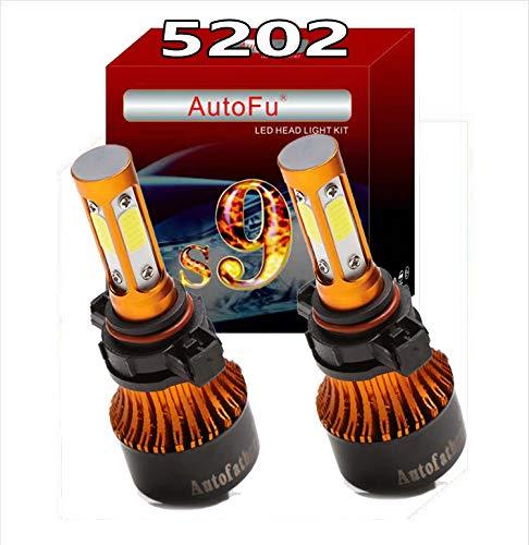 5202 LED Headlight Bulbs Fog Light Bulb H16 Headlight High Beam or Low Beam Replacement Kit, 24000LM 240W Super Bright 6000K Cool White Car Lighting Accessories Conversion Kit