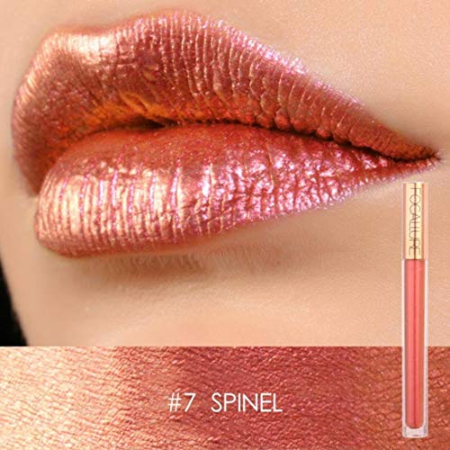 XEDUO FOCALLURE New Fashion Lip Lingerie Metallic Lipstick Moisturizing Long-Lasting Sexy Lip Gloss Makeup or Women (07#)