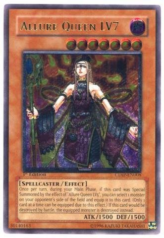 Yu-Gi-Oh! - Allure Queen LV7 (CDIP-EN008) - Cyberdark Impact - 1st Edition - Ultimate Rare