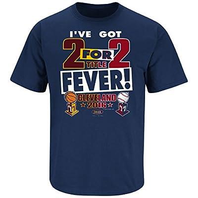 Cleveland Indians Fans. I've Got 2 For 2 Fever. Navy T Shirt (Sm-5X)