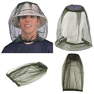 quanjucheer zanzara Insetto Mosca Rete Testa Pesca Outdoor Viso Protezione di Rete per Escursioni Caping 1 spesavip