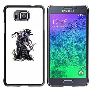 Be Good Phone Accessory // Dura Cáscara cubierta Protectora Caso Carcasa Funda de Protección para Samsung GALAXY ALPHA G850 // character monster witch Halloween white