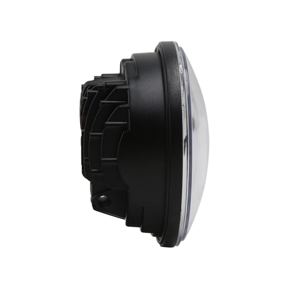 sourcingmap Noir 5.75 45W Moto Projecteur LED Ampoule Phare Phare pour Harley-Davidson Sportster Dyna Softail