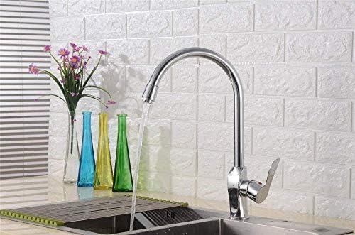 WXQ-XQ バスルームのシンクは、銅の台所の蛇口の銅ボウル洗面蛇口シンク回転のスロット付き浴室の洗面台のシンクホットコールドタップミキサー流域の真鍮のシンクのセットの大曲線温水と冷水の蛇口をタップ