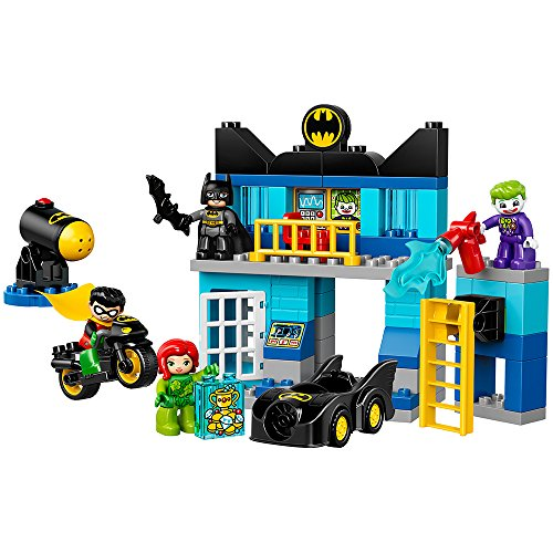 LEGO DUPLO DC Comics Super Heroes Batman Batcave Challenge 10842, Preschool, Pre-Kindergarten, Large Building Block Toys for Toddlers