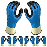 Atlas 377 Fully Dipped Nitrile Coated Foam Grip X-Large XL Work Gloves, 24-Pairs