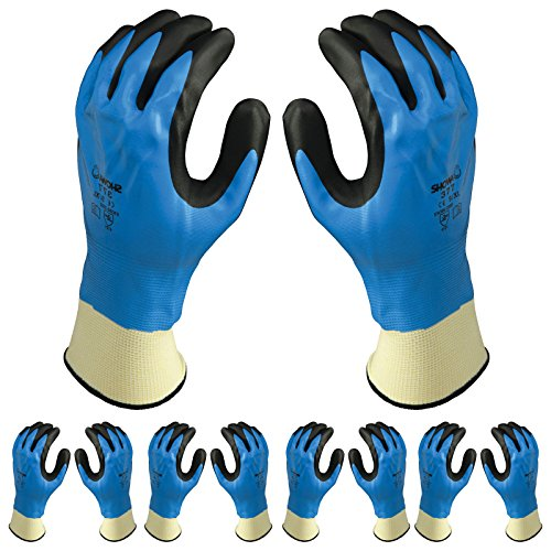 Atlas 377 Fully Dipped Nitrile Coated Foam Grip X-Large XL Work Gloves, 12-Pairs by Atlas