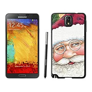 Provide Personalized Customized Santa Claus Black Samsung Galaxy Note 3 Case 16