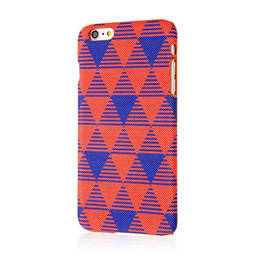 Empire Signature Series iPhone 6 Plus/6S Plus Slim Fit Phone Case - Raised Accented Edges, Diamond Knit Fabric - Red Modern Age