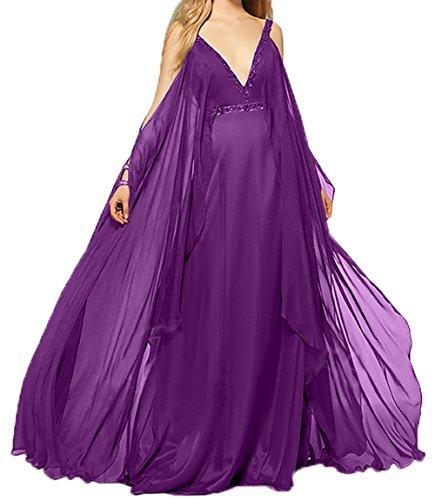 Charmant Langes Violett A Damen Abendkleider Linie Brautmutterkleider Promkleider Ballkleider Festlichkleider 2018 Rock Neu rp6xtqr
