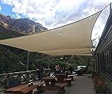 SoLGear 8' x 12' Rectangle Beige UV Block Sun Shade Sail Perfect for Patio Outdoor Garden