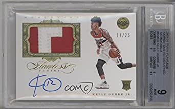 Kelly Oubre Jr. BGS GRADED 9 #17/25 (Basketball Card) 2015-16 Panini Flawless - Momentous Autographed Memorabilia #MM-KO