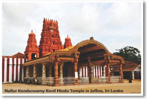 Nallur Kandaswamy Kovil Hindu Temple in Jaffna Sri Lanka - NEW World Travel Poster (Best Hindu Temples In The World)
