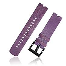 Nogis Leather Watch Band Wristband Watchband Strap for Motorola Moto 360 Moto360 Smart Watch (Purple)