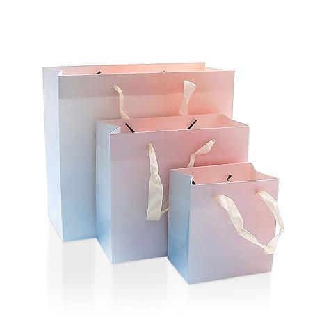 Paquete de 6 bolsas de papel kraft con asas para la compra ...