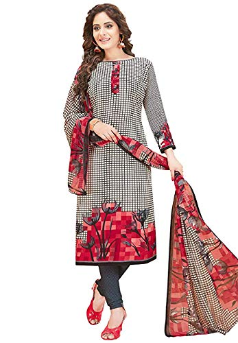 Muhenera Women's Pack of 2 Synthetic Printed Salwar Suit Unstitched Dress Material Combo-MONSOON-2481-2484
