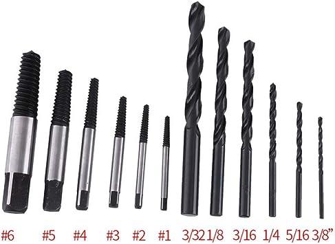 12pcs//Set Screw Extractor Drill Remover Manual Bolt Screw Out Bit Wood Metal