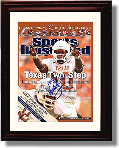 Framed Vince Young Texas Two Step Texas Longhorns 2005 SI Autograph Replica Print