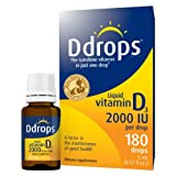Ddrops Liquid Vitamin D3 2000 IU 5 ML - Buy Packs and SAVE (Pack of 4)