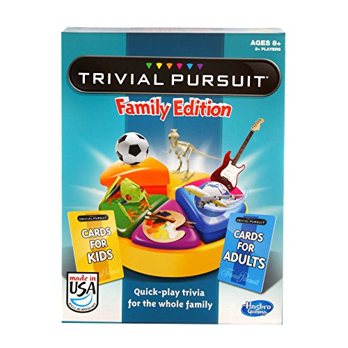 (Trivial Pursuit Family Edition Game, Game Night, Ages 8 and up(Amazon Exclusive))