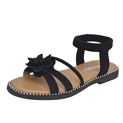 464215fd65adb Amazon.com: Big/Little Kid Baby Girls Sandals Summer Pearl Floral ...