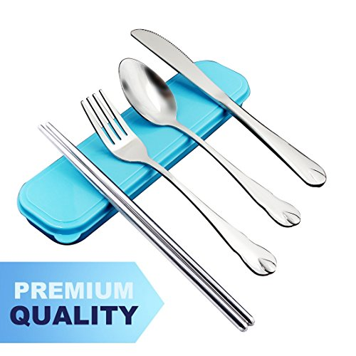 Teivio 4 Piece Portable Stainless Flatware product image