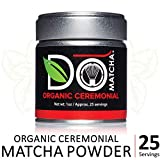 DoMatcha - Organic Ceremonial Matcha Powder, Natural Source of Antioxidants, Caffeine, and L-Theanine, Promotes Focus and Relaxation, 25 Servings (1 oz)