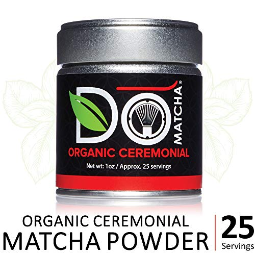 DoMatcha - Organic Ceremonial Green Tea Matcha Powder, Natural Source of Antioxidants, Caffeine, and L-Theanine, Promotes Focus and Relaxation, 25 Servings (1 oz)