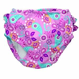 Iplay IP711153-200-45 - Bañador para niña con pañal (protección solar 50+, talla XL/24 meses, diseño estampado), color rosa