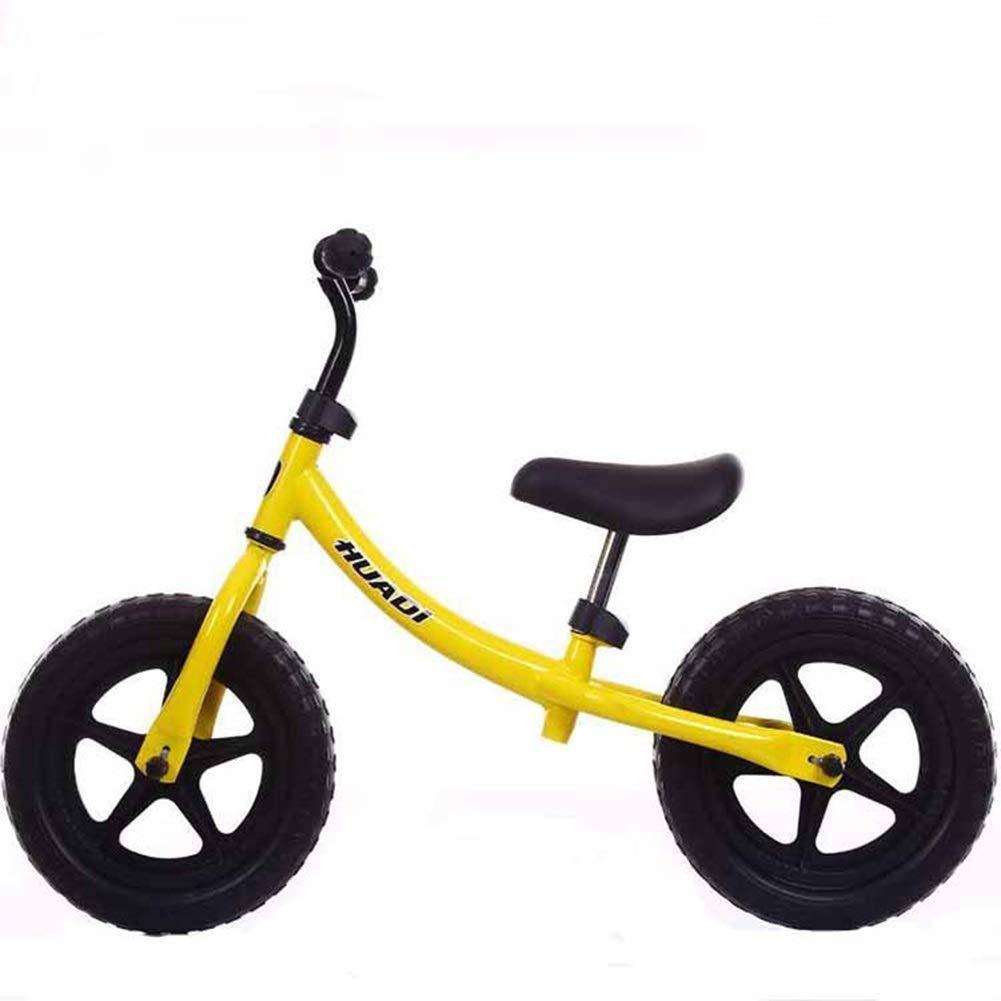 調整可能なハンドルバーとシートウォーキングバランスバイク付きバランスバイク、2-6歳の男の子の女の子トレーニング自転車、スーパーソフトサドルノンスリップハンドル、12