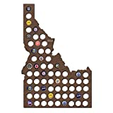 Idaho Beer Cap Map Walnut Stain Wood Bottle Cap Holder Unique Christmas Presents Beer Lovers Crafts 21.65 x 14.57''