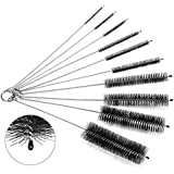 Cleaning Brush Set, Oria® 8 Inch Nylon Tube Brushes Straw Set, for Drinking Straws, Glasses, Keyboards, Jewelry Cleaning, Etc [Updated 10 pieces]