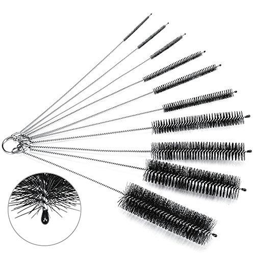 Cleaning Brush Set, Oria¨ 8 Inch Nylon Tube Brushes Straw Set, for Drinking Straws, Glasses, Keyboards, Jewelry