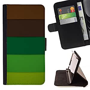 For Samsung Galaxy J3(2016) J320F J320P J320M J320Y Case , Marrón Pastel Paleta Tones- la tarjeta de Crédito Slots PU Funda de cuero Monedero caso cubierta de piel