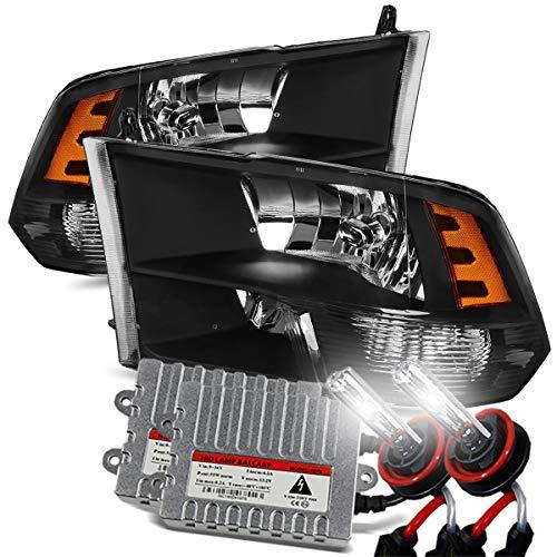 2500 Headlight Left (Modifystreet 6000K Xenon/Black 09-18 Ram 1500/10-18 Ram 2500/3500 Dual/Quad Crystal Headlights Left/Right Assembly)