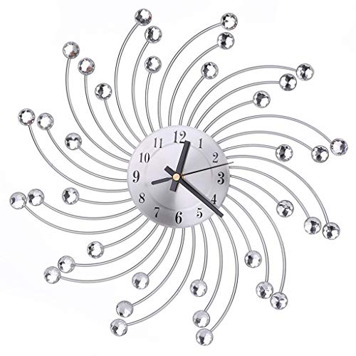 (Modern Wall Clock Diamante Crystal Timelike Hanging Clock for Home Decoration)