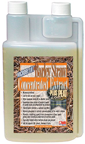 (Microbe Lift 32-Ounce Pond Barley Straw Concentrate Plus Peat Extract Concentrate BSEP32)