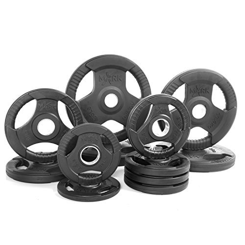 XMark Fitness XM-3377-BAL-165 Rubber Coated Olympic Plates