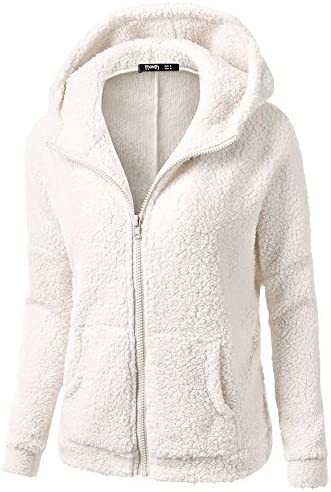 DEELIN Sale Women Hooded Solid Ladies Sweatshirt Sweater Coat Vintage Warm Plush Zipper Coat Cotton Autumn Winter Coats Outwear