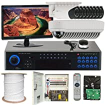 Best Sale High End Professional 32 Channel H.264 960H Realtime DVR Security Camera System with 24 x 1/3 SONY CMOS Camera, 1000 TV lines, 2.8~12mm Manual Varifocal Lens. One is 42PCS Infrared LED, 114 feet IR Distance and one is 30PCS Infrared LED, 65 feet IR Distance. Free LED Monitor. 960×480 & 30fps recording. D1mode/960Hmode:30fps playback. iPhone, Android Viewing. New color graphical menu. Network live, backup, playback, USB2.0 Backup, PTZ Control