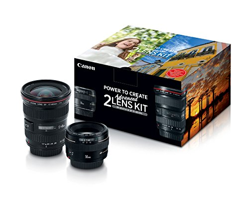 Canon Advanced Two Lens Kit with 50mm f/1.4 and 17-40mm f/4L Lenses (Best F1 2 Lens)