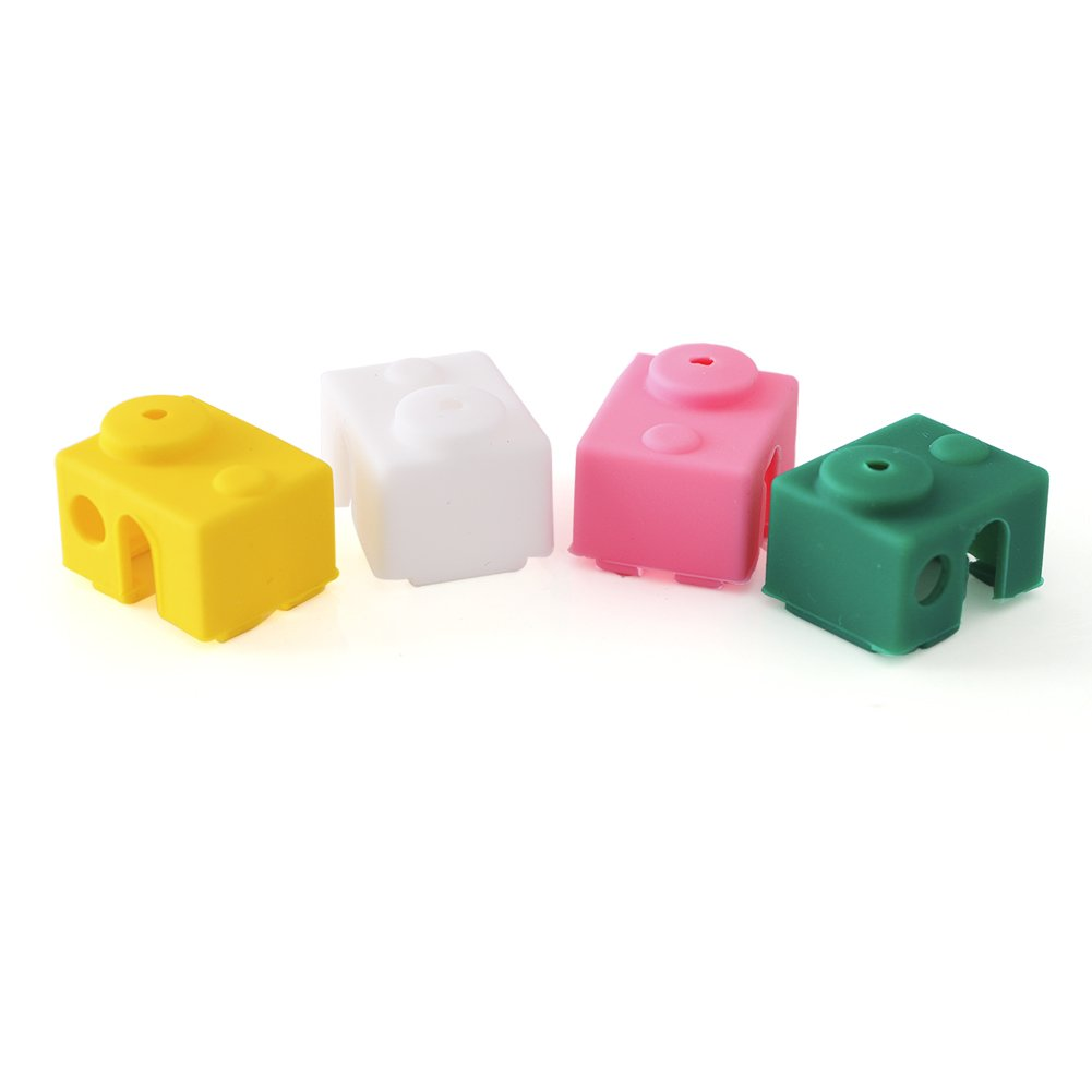 4PCS Silicone Case Cover Sock Shell for V6 Aluminum Block 3D Printer Part Hot End