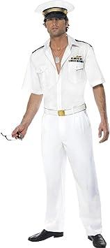 Top Gun Disfraz Blanco L 52/54 Pilot Disfraz Planeador Disfraz Pilot ...