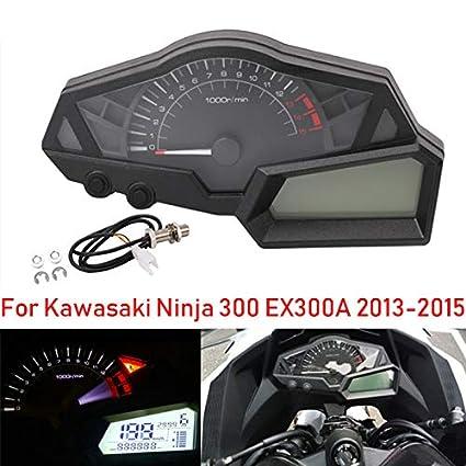 FidgetKute LCD Digital Speedometer Tachometer Indicator for Kawasaki Ninja 300 EX300A Sale