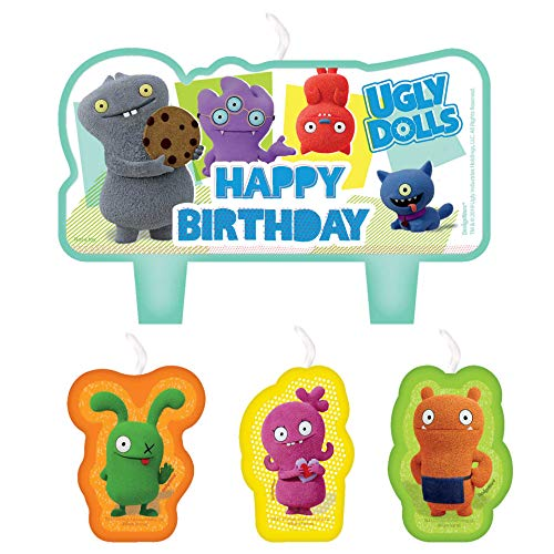Amscan International Amscan 170598 Party Candle Novelty 4 Pack Ugly Dolls Movie, Colour]()