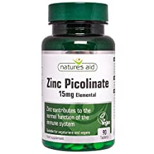Natures Aid Zinc Picolinate 15mg 90 tablet