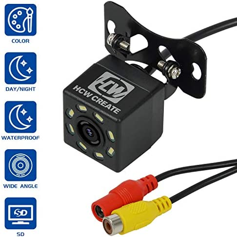 HCW CREATE Car Rearview Vehicle Backup Camera,8LED Nigh Vision Lights 170 , Waterproof IP68 for All Cars