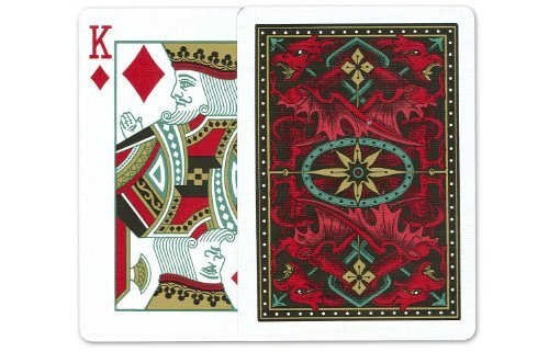 Bicycle Red Dragon Playing Cards: 12 Decks of Bicycle Poker Size Red Dragon Back Playing Cards by Bicycle