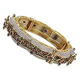 MUCHMORE Gorgeous Style CZ/Ruby Gold Tone Diamond Swarovski Elements Indian Bangles Traditional Jewelry (2.6)