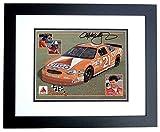 Michael Waltrip Signed Photograph - Racing 8x10 BLACK CUSTOM FRAME - PSA/DNA Certified - Autographed Photos